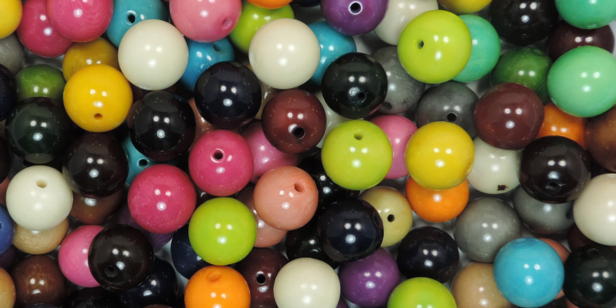 Tagua colored pearls